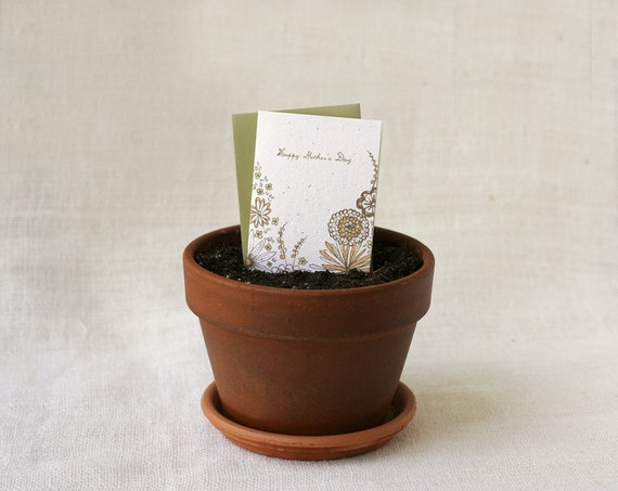 Plantable Mother's Day Card - Green Thumb