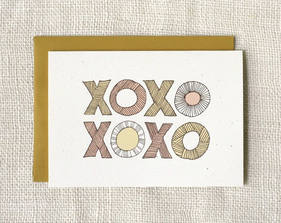 Valentine Card - XOXO