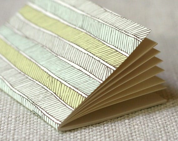 SALE 50% Off - Jotter, Pocket Notebook, Mini Journal - Herringbone