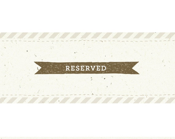 Reserved for Joan