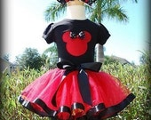 Minnie Mouse inspired Tutu Outfit -in PINK, Hot Pink or RED