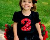 Girls Birthday Outfit-  Sassy Little Ladybug Birthday Tutu Outfit