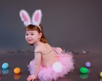 My Little Easter Bunny Tutu Set -includes tutu, bunny tail and ears