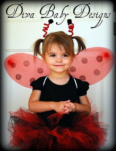 ladybug halloween costume includes tutu wings by. Black Bedroom Furniture Sets. Home Design Ideas