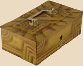 Vintage 1920s Art Deco Tin Box