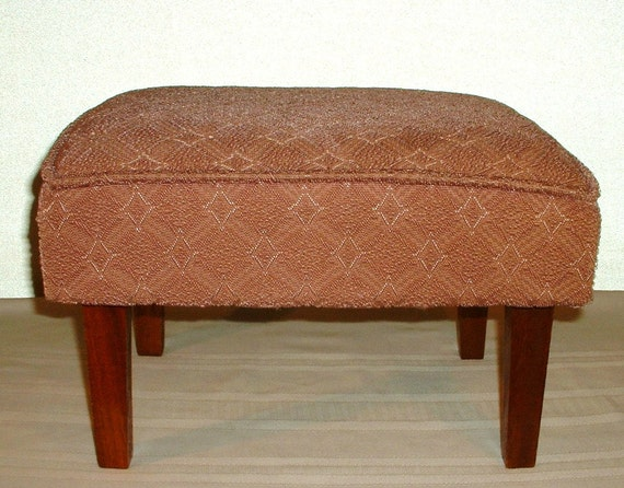 Vintage Upholstered Footstool Or Small Bench