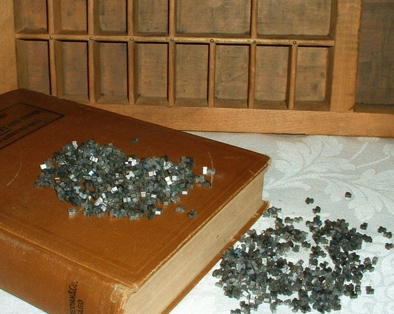 Metal Letterpress Letters Lot of over 400 for Jewelry Making or Mixed Media Art Varied Sizes