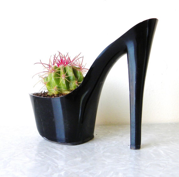 Mildred Pierce. stiletto cactus planter. eco friendly. feminist art. indoor garden giddyspinster