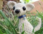 PATTERN - Crocheted Chihuahua Dog or Puppy Amigurumi Animal Pattern