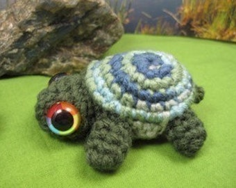 PATTERN - Crocheted Turtle or Tortoise Amigurumi