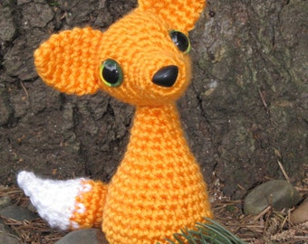 PATTERN - Crocheted Red Fox Amigurumi Animal Pattern