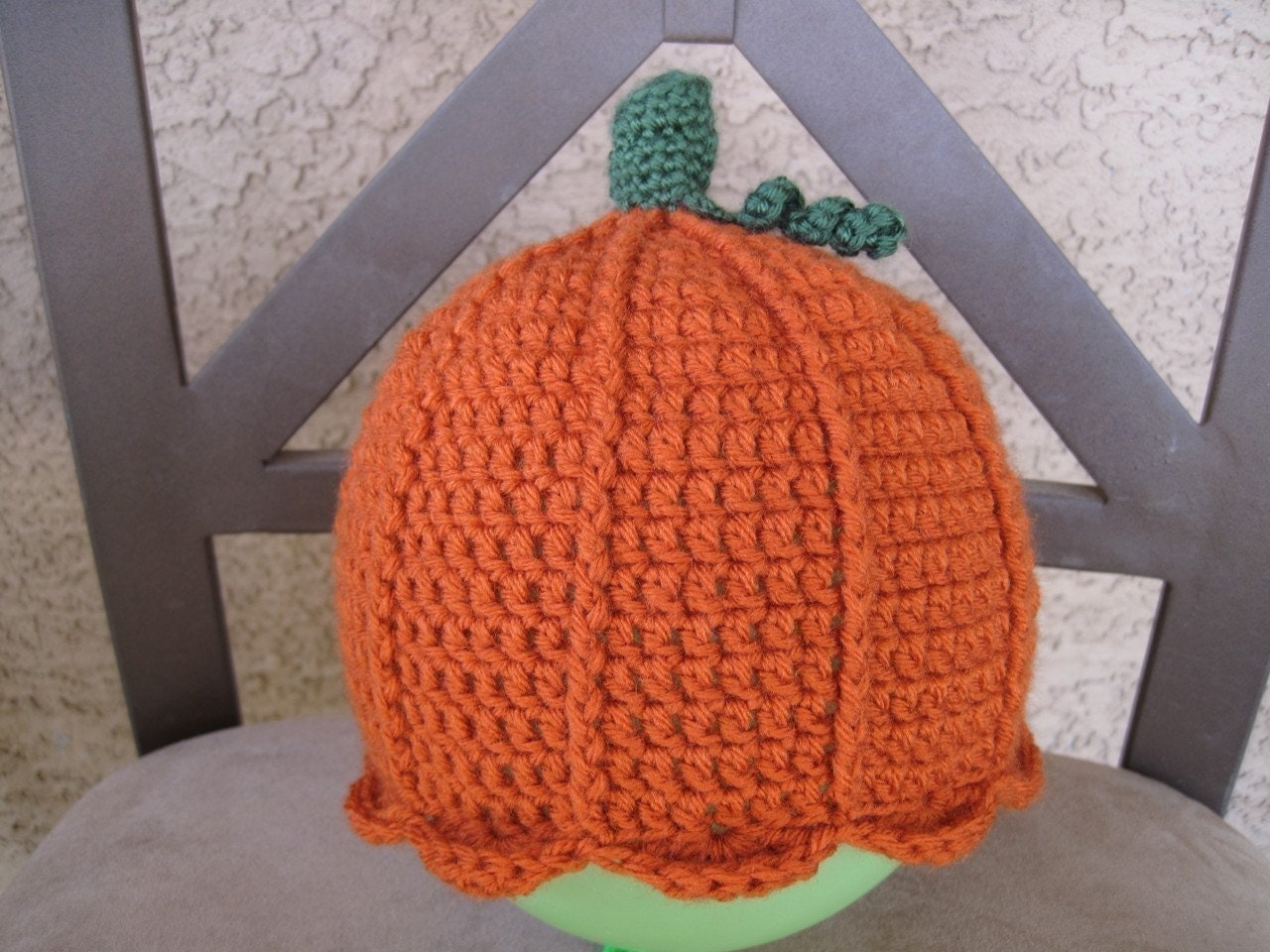 Pattern Crocheted Pumpkin Hat And Pumpkin Amigurumi