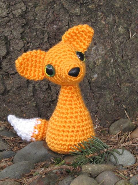 PATTERN Crocheted Red Fox Amigurumi Animal by sandsteeldesigns