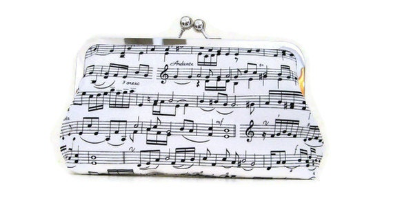 CLUTCH PURSE Handmade for Bridesmaids Sheet Music or choose your own fabric