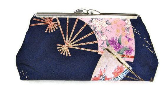 Kimono Silk CLUTCH PURSE with silk lining super elegant