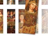 Digital Collage Sheets Vintage Cuzco Archangels, Angels - Microscope Slides, Pendant Images
