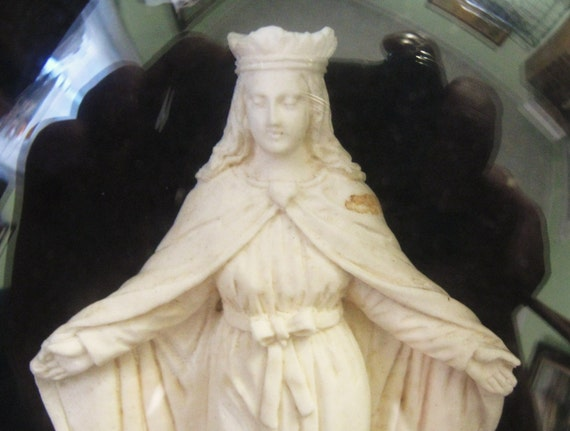 Antique Meerschaum Carving Blessed Virgin Mary