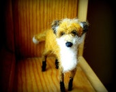 Needle Felted Red Fox Pup by Sendsunshine