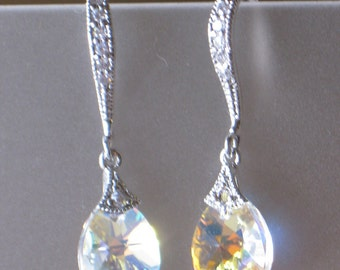AB Swarovski Drop Earrings