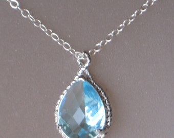 Arrielle Necklace- Swiss Blue