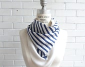 Nautical Stripes Silk Scarf