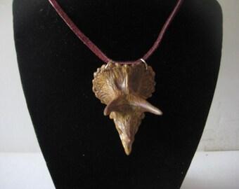 DINOSAUR SKULL Necklace, TRICERATOPS Plastic for Men or Women
