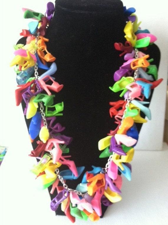 BARBIE SHOE Necklace Heels Doll Shoe Multi Jewelry BARBIE jewelry shoes pumps