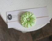 Key Lime Pie - Baby flower Headband - Baby Headband - Infant Headband