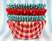 Turquoise and Red Stack, 45 Baking Cups