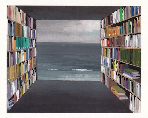 Library by the Sea - Archival Print