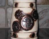 Porcelain Steampunk  Industrial Luster Gears Large Mug Beer Stein