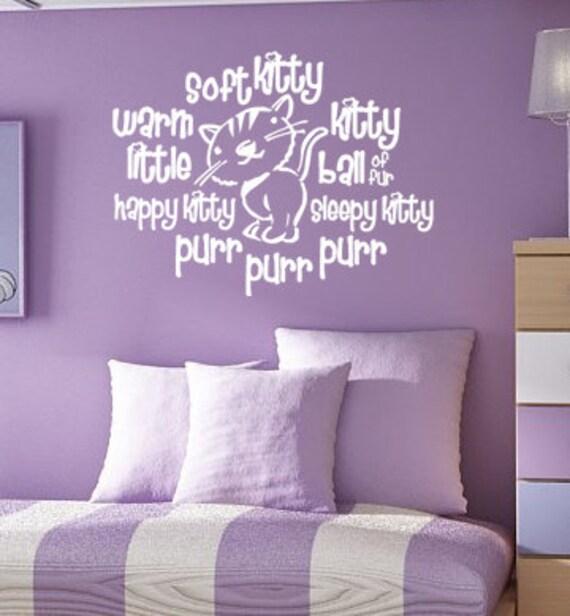 Soft Kitty Warm Kitty - Big Bang Theory - Vinyl Wall Decal