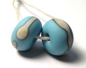 Big Sky...Etched Lampwork Beads