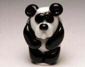 Panda Bear Handmade Lampwork Bead Vintage Me