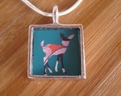 Bambi in Technicolor Sterling Silver Deer Fawn Necklace