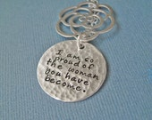 Secret Message Necklace Hammered Sterling Silver- Your Secret Message Necklace - Sterling Silver Pendant Mother Wife Sister best friend