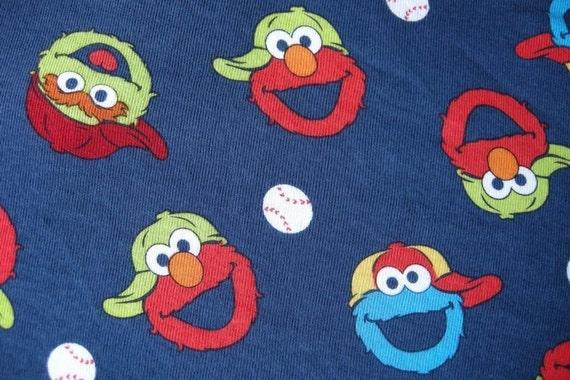 Knit Cotton Fabric Elmo By The Yard By Felicitysiu On Etsy