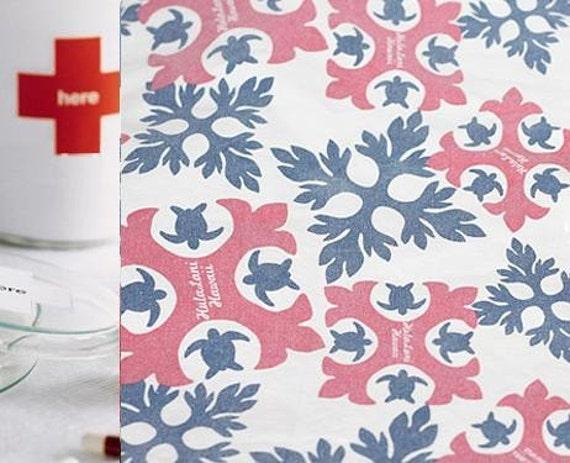 F9 - Sale Japanese light canvas fabric - Huala Lani (C) - 20in x 18in