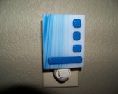 Blue Geometric Night Light