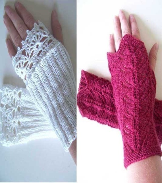 MADELINE, Knit and crochet glove pattern, PDF