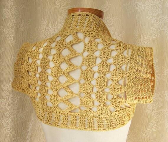 SUNNY, Crochet shrug pattern, PDF