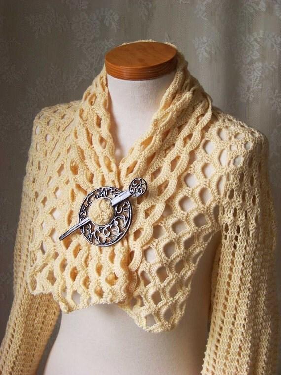 Crochet pattern, Vanilla shrug, PDF