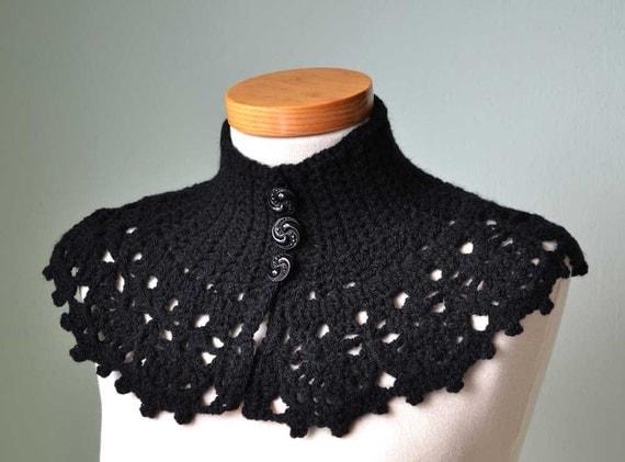 LACY, Crochet capelet/cowl pattern, PDF