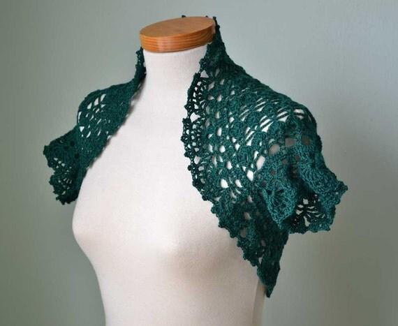 QUINTY, Crochet shrug pattern,  PDF
