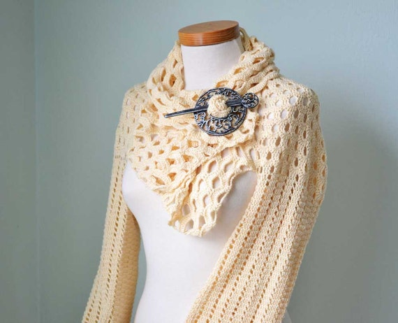 VANILLA, Crochet shrug pattern, PDF