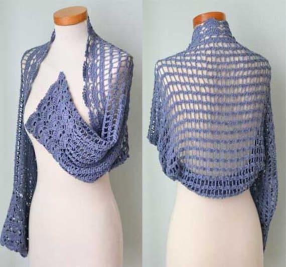 GREYA, Crochet shrug pattern, PDF