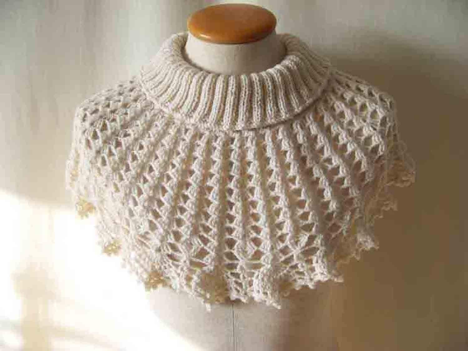 Crochet And Knitting Patterns : Knitted Capelet Pattern   Catalog of Patterns