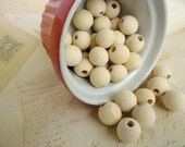 Round Wood Beads - Natural - 16mm - Pack of 10