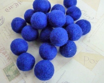 Felt Balls x 20 - Royal Blue - 2cm