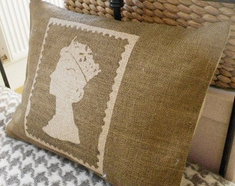 hand printed limited edition commemorative British diamond jubilee cushion